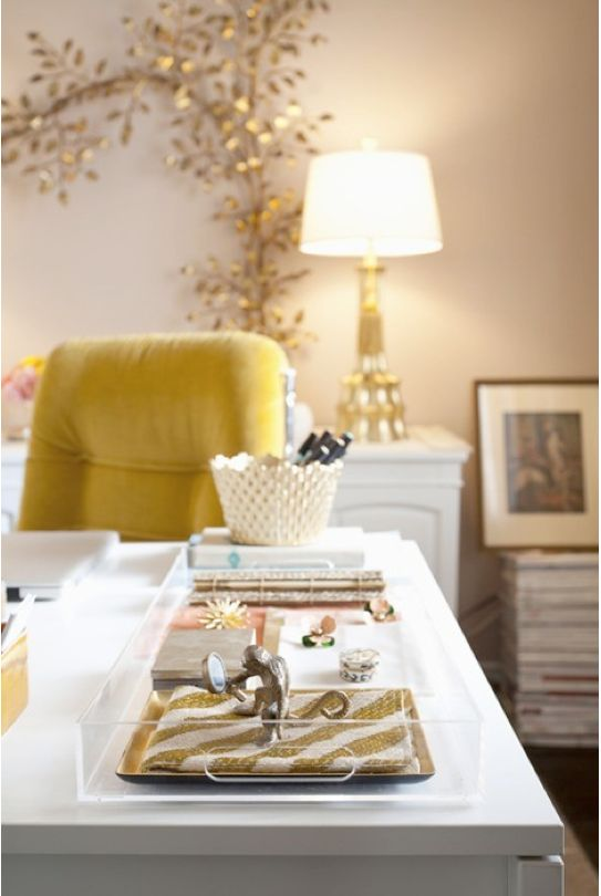 {Source Unknown, via Milk & Honey Home} Love the tray within the (lucite) tray.