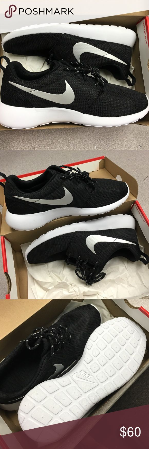 Nike Roshe One Women's Size 10. Black/white/metallic. Completely brand new in original box. Retail for $75 Nike Shoes Sneakers