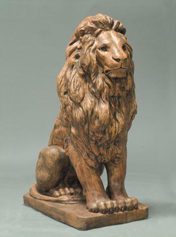 Estate Lion Outdoor Garden Statue LO-545