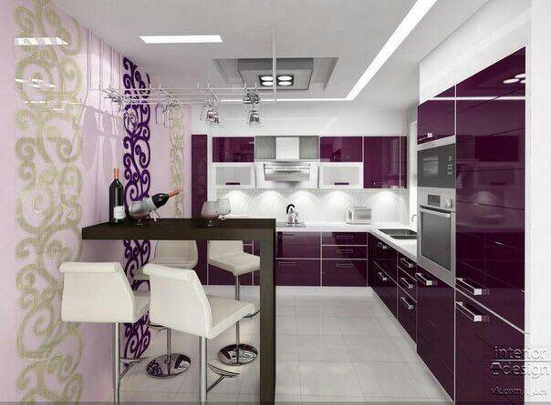 Purple Kitchen Cabinets Pinterest'te hakkinda 1000'den fazla fikir