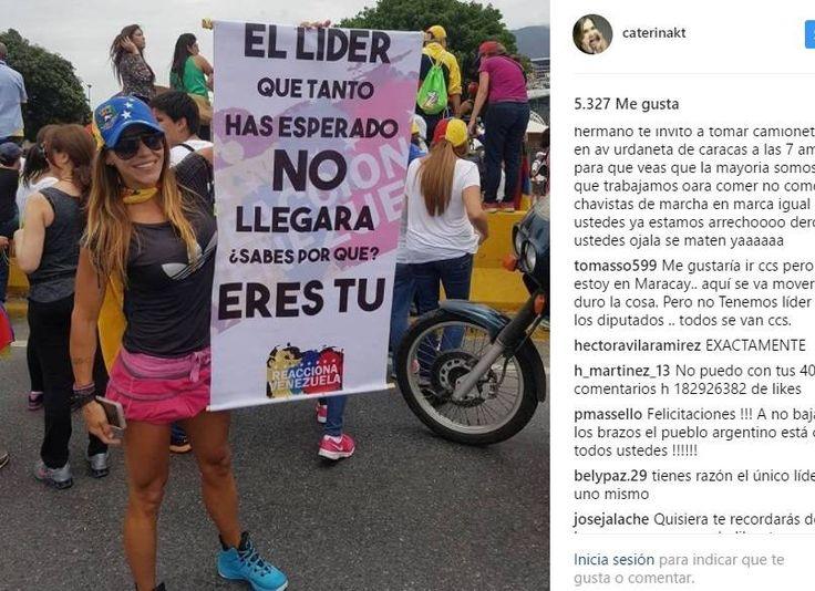 """Quién es la """"Wonder Woman"""" que protesta contra Maduro y se hace viral - Los Andes Diario"""