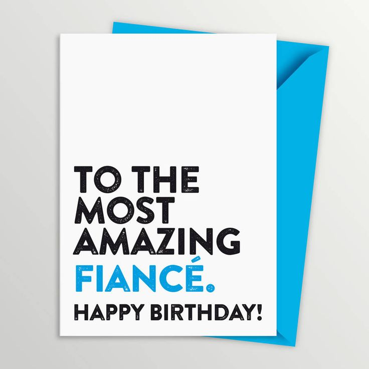 fiance birthday card by a is for alphabet | notonthehighstreet.com