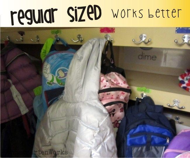 Preschool sized backpacks {{irk}} me as a K teacher {wink}