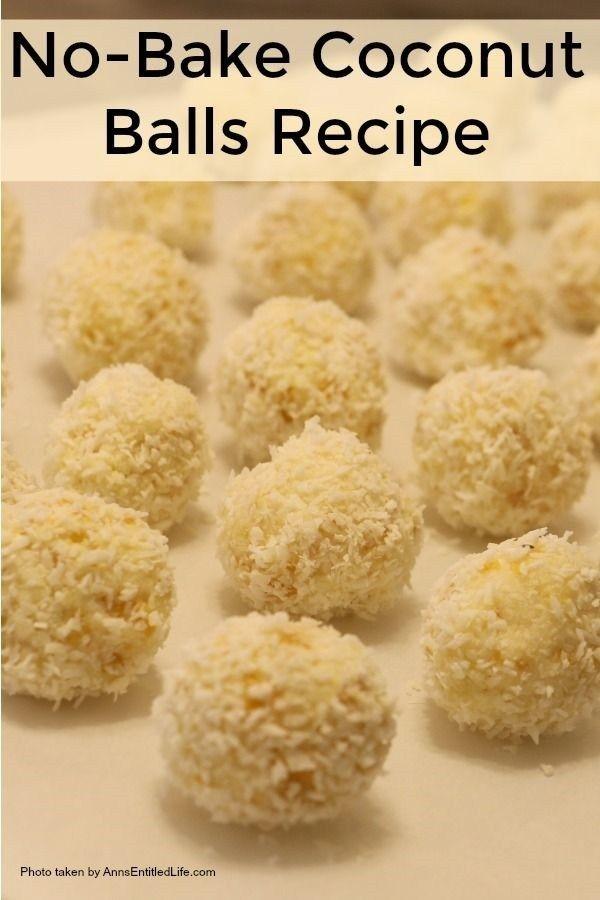 No Bake Coconut Balls Recipe No Bake Coconut Balls Recipe Coconut Balls Balls Recipe