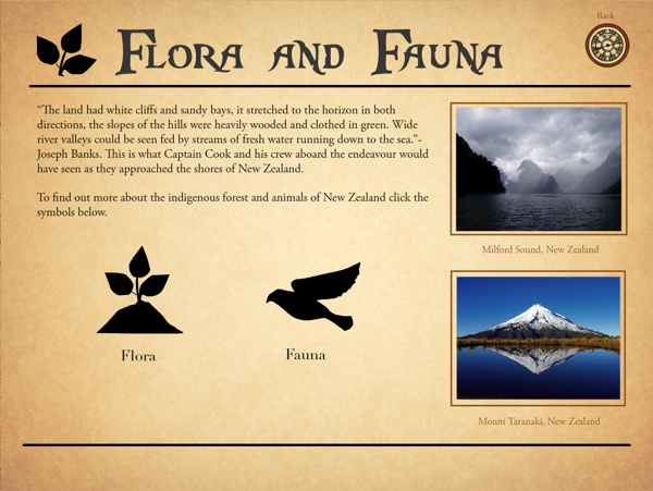 Interactive Education - The Discovery of New Zealand on Behance