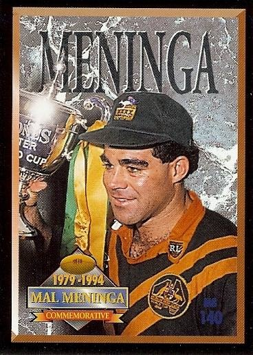 Canberra Raiders legend Mal Meninga 1994.