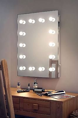 Diamond X Wallmount Hollywood Makeup Mirror with Daylight Dimmable LED k412CW