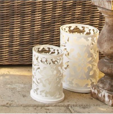 Take care of your candles! Create a relaxed environment with these white hurricane candle holders.