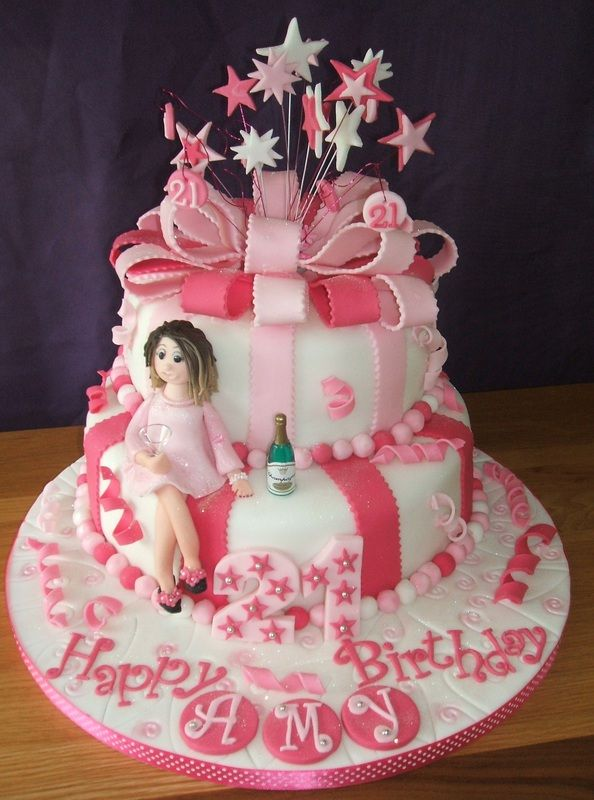 Pink Themed White Cake Decoration Ideas For Your Party With Cake Toppers