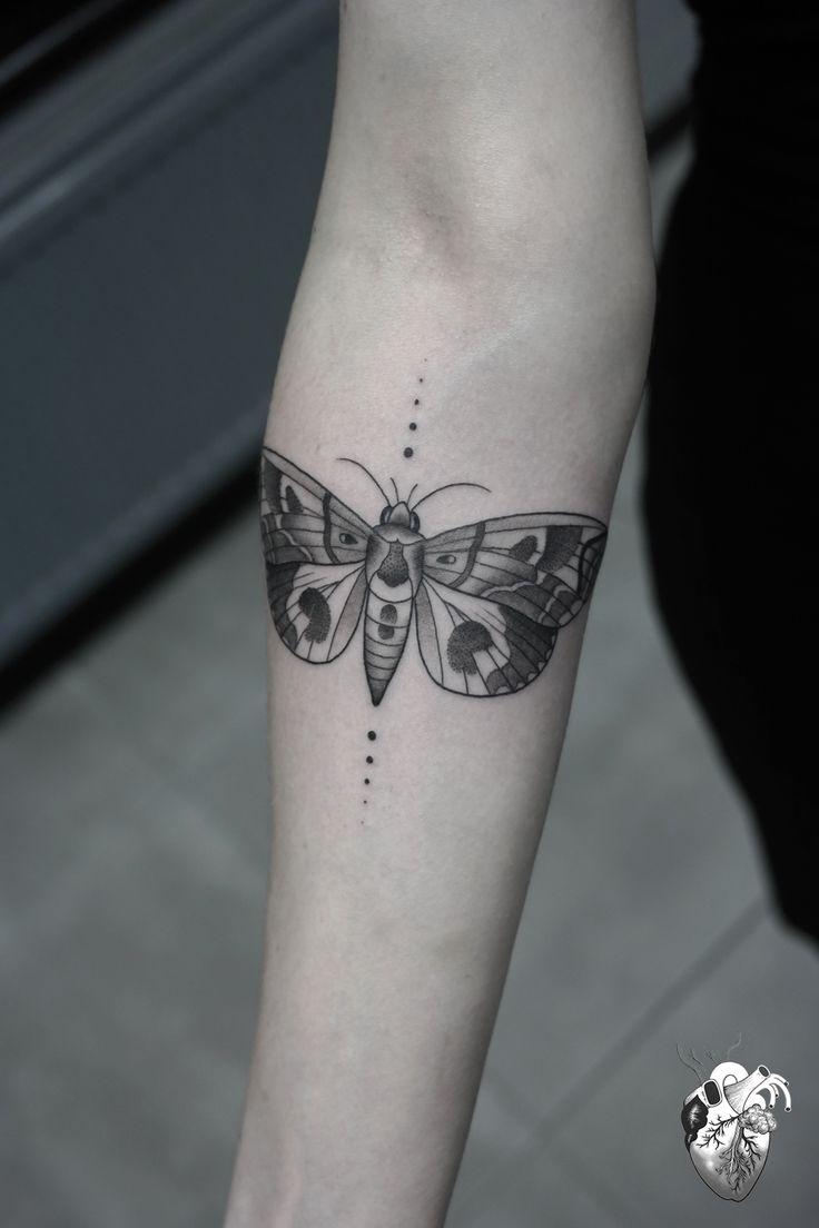 geometric moth tattoo - Google Search