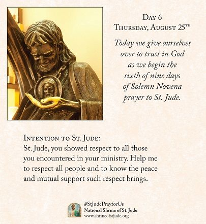 Reminds me of my dad. His middle name was Jude. Solemn Novena to St. Jude - Day 6