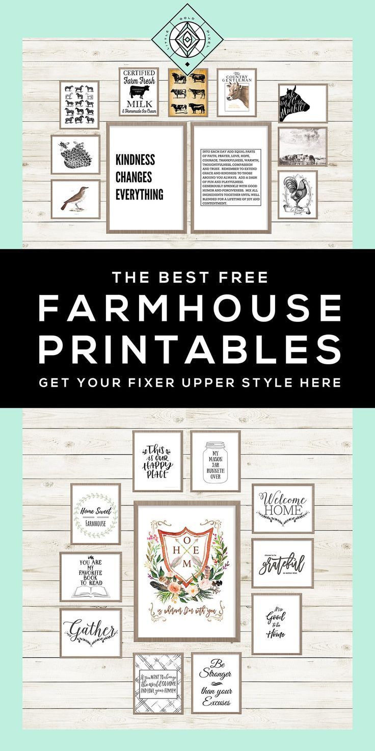 40 free farmhouse printables for that fixer upper vibe for Free online bathroom design templates