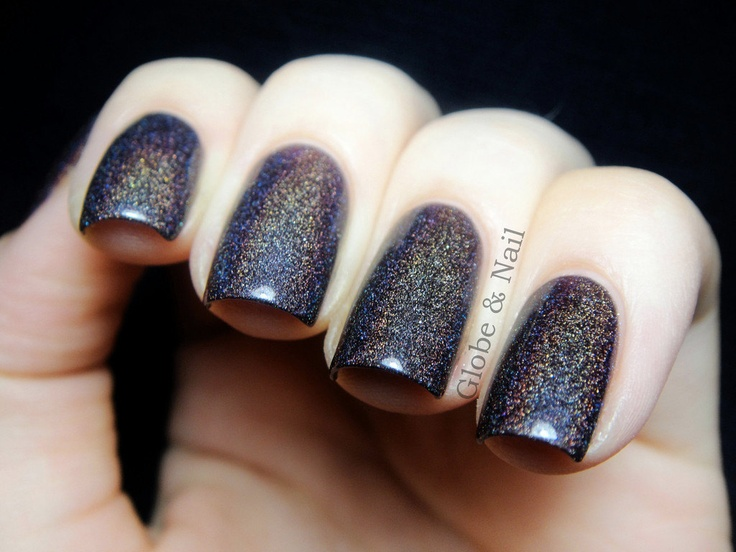 Euphoria Nail Polish -  Chocolate Plum Linear Holographic - Full Size 15 ml Bottle. $11.00, via Etsy.