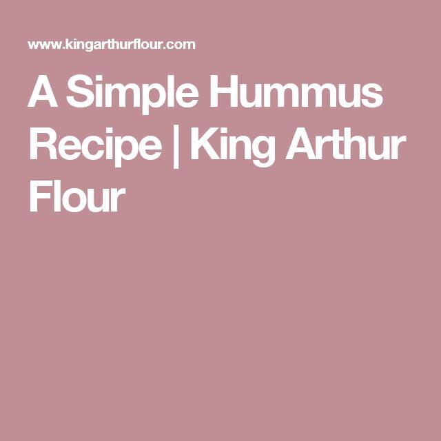 A Simple Hummus Recipe | King Arthur Flour
