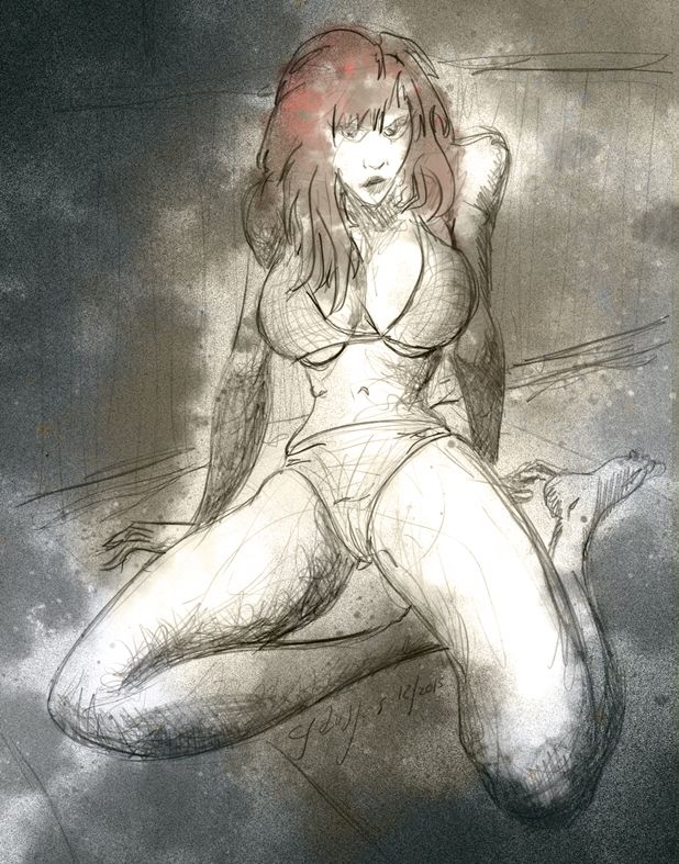 Tuesday #sketch #RedHead