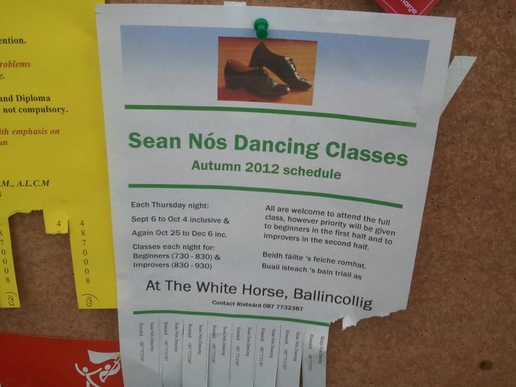 Sean Nos Dancing classes