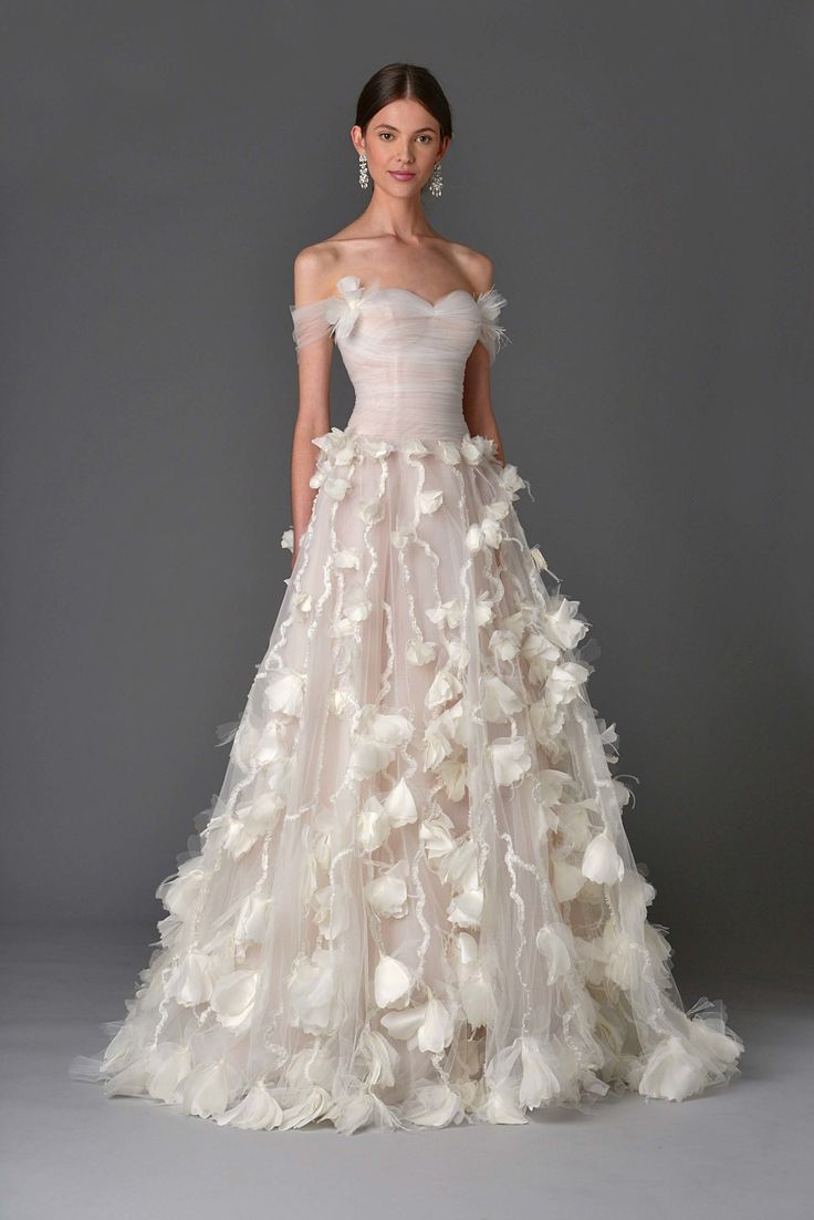 wedding dresses wedding dress Marchesa Bridal Spring Fashion ShowThere s always some sort of fantasy woven into Georgina Chapman and Keren Craig s Marchesa bridal collections