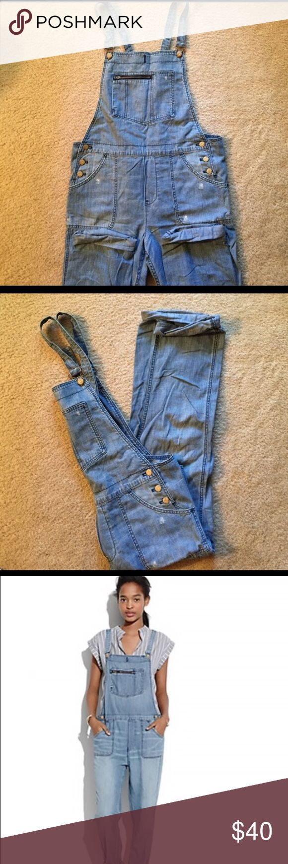 Madewell Blue Park Overalls Size M Relaxed fit overalls from Madewell. Worn once. Madewell Jeans Overalls