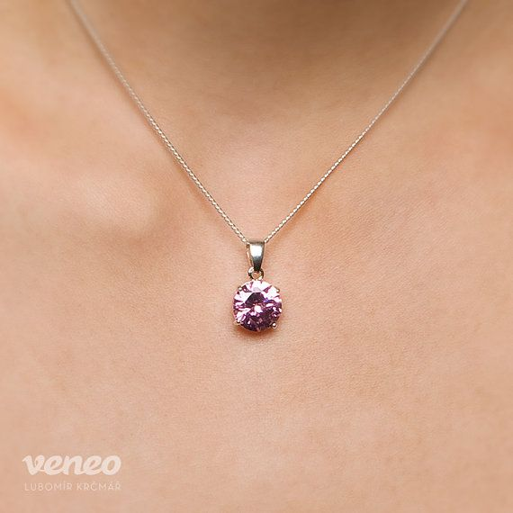 Diana 14. Handmade Zircon Pendant by Veneo on Etsy