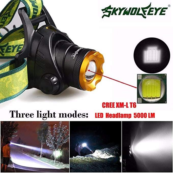 CREE XML T6 LED Headlamp Headlight Flashlight 18650 Head Torch Work Light Hiking