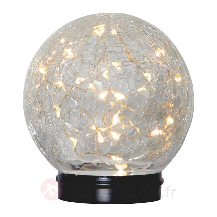 Lampe solaire à poser sphérique Glory, référence 1523060 - Lampes décoratives pour l'extérieur : guirlandes lumineuses, lampes solaires à découvrir chez Luminaire.fr !