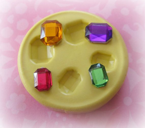 Silicone Gem Mold Cabochon DIY Molds Resin PMC Polymer Clay Molds