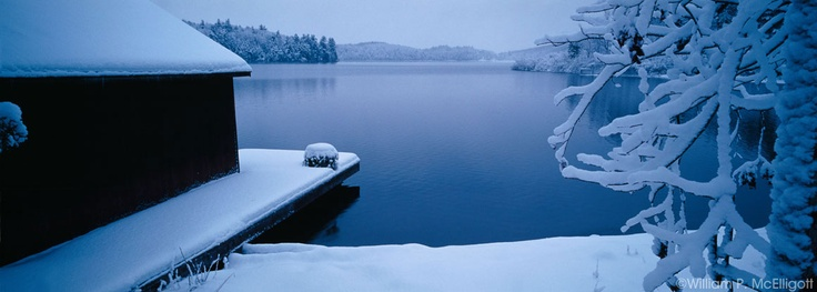 First Snow At #Meech Lake  - William P McElligott - from the Ottawa Canada book