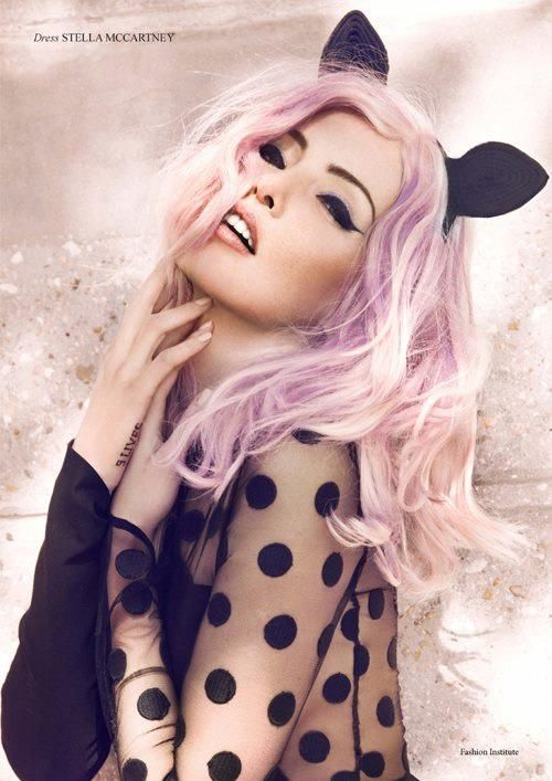 Purple/pink hair  Ooooh I LOVE this ♥