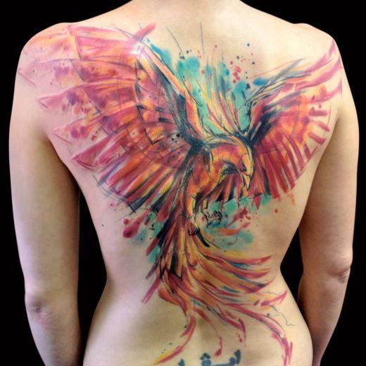 watercolor paintings tatooed...
