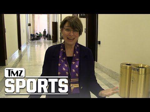 Minnesota Senator Amy Klobuchar Is Hardcore Vikings Fan, 'I Was at the Game!'