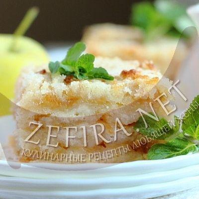 Постный насыпной яблочный пирог — Кулинарные рецепты любящей жены