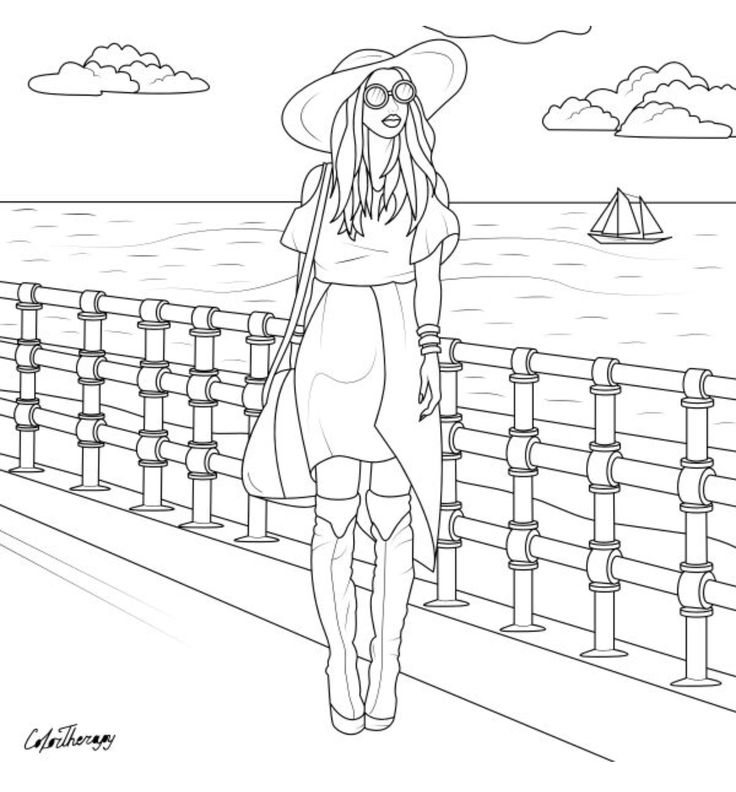 307 best Fashion Coloring Pages for Adults images on