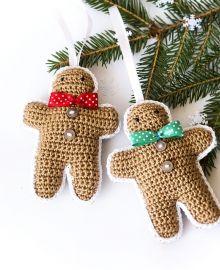 Zestaw zawieszek na choinkę - Ciastka. Autor: cat-a-needle. Do kupienia w Atelio. #cokies #christmas #decorations #polandhandmade #handmade #rękodzieło #ciastko #ciastka #szydełko