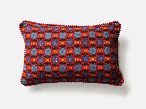 Nordic Print Scandi Style Boudoir throw pillow Retro 1960s #scandi #scandistyle #nordichome #nordicstyle #scandidesign