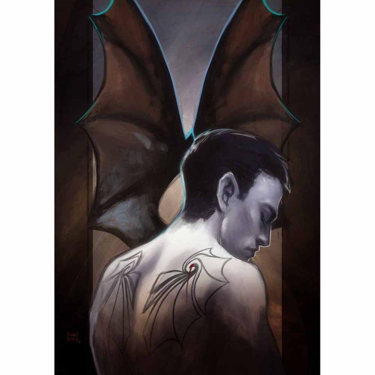 Der Siegener Illustrator mandelbrot hat für den Urban Fantasy Roman Böses Blut der Vampire Illustrationen zu einzelnen Kapiteln geschaffen.