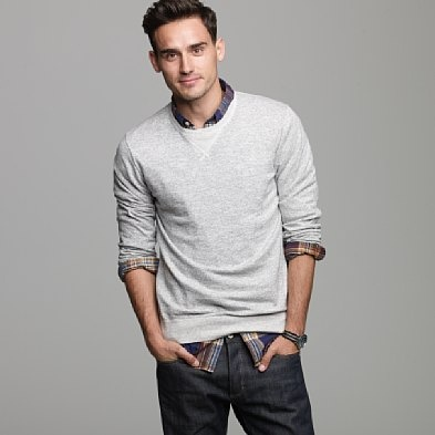 Guy's style for photo shoots doesn't have to be complicated-- a little layering goes a long way. J Crew Men Wonder if I can get Brett to wear this?