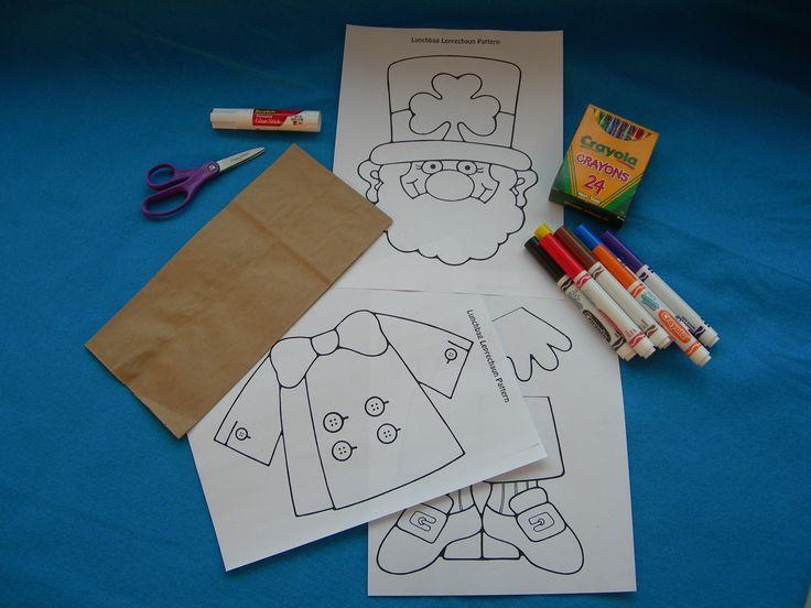 Lunch bag leprechaun -- printable