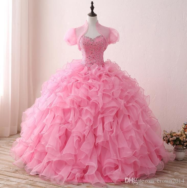 Pink Ball Gowns Quinceanera Dresses Prom Evening Party dress Beauty Pageant | Clothing, Shoes & Accessories, Women's Clothing, Dresses | eBay!