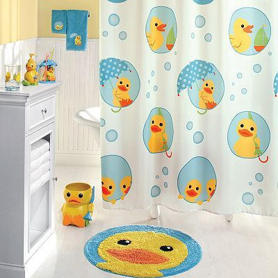 Can I convince Justin to do a Rubber Ducky Bathroom????   Jumping Beans Lucky Duck Bath Accessories - khols