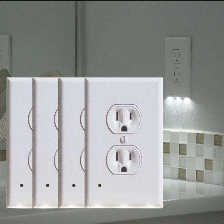 4pack led night light outlet cover assorted styles