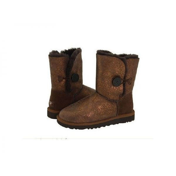 Clearance Chocolate UGG Bailey Button 5803 Womens Boots Outlet