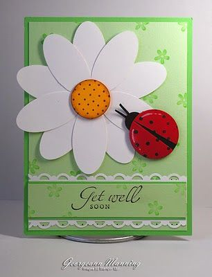 *Ladybug card*    I absolutely love this. I'm always looking for new ways to scrapbook and make cards. This is fantastic.