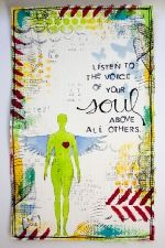 Love the quote!: White Spaces, Inspiration, Life Lessons, Art Journals, Mixed Media, Listening, Soul Quotes, Pictures Quotes, The Voice