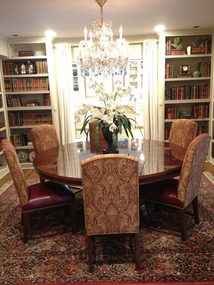 Turn Your Dining Room In Library And Use It