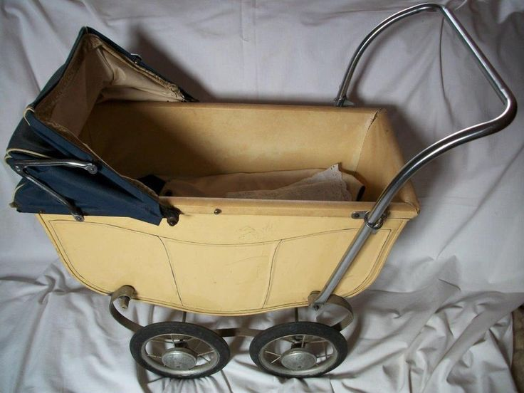 Vintage Lines Brothers Toy Dolls Pram Folding Handle Tri