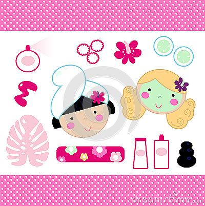 Beauty and spa design elements collection. Vector