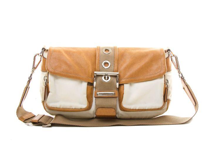Authentic Prada Tessuto & Vitello Shoulder bag BR2417