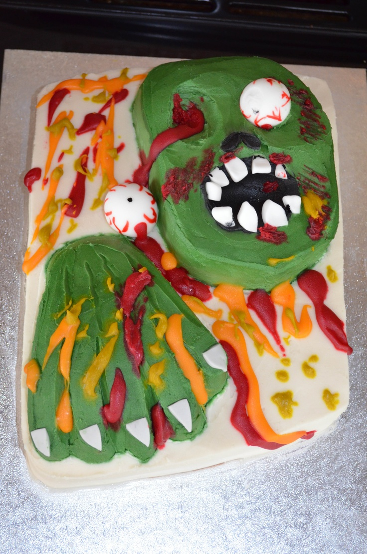 Best 25 Zombie Birthday Cakes Ideas On Pinterest Zombie