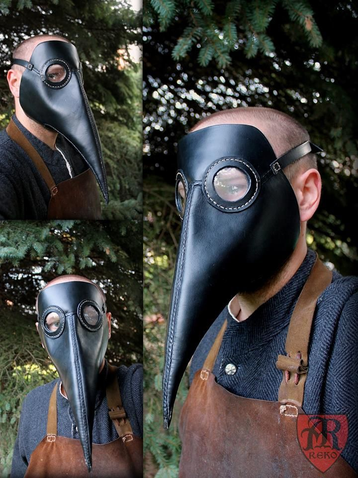 Leather mask Dr. Plague Made by Pracownia REKO