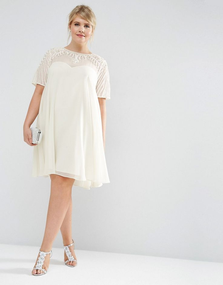 Wish I had this dress a few months ago - Would have been a perfect bridal shower/reception/honeymoon dress! Still want it now though. ;) Swing Dress with Embellished Yoke